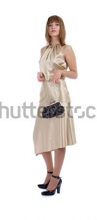 Modelo pequeno saco retrato belo preto Foto stock © zastavkin