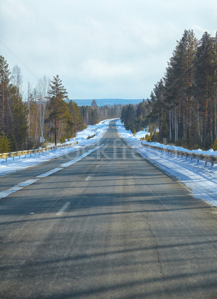 Tél út hó űr kék fehér Stock fotó © zastavkin