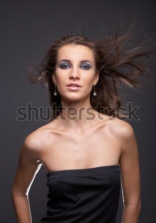 woman with flattering hair Stock photo © zastavkin