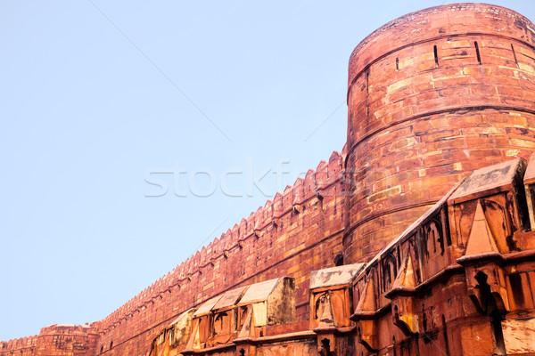 Main wall of Red Ford in Agra, India Stock photo © zastavkin