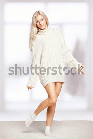 beautiful plus size woman Stock photo © zastavkin