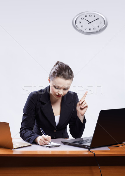 Stock fotó: üzletasszony · kettő · laptopok · iroda · portré · gyönyörű
