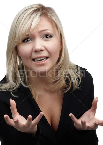 despaired blonde girl Stock photo © zastavkin