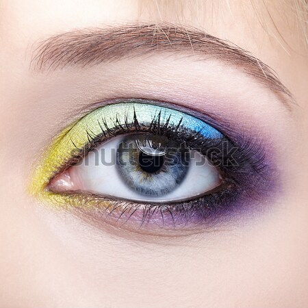 woman eye zone make up Stock photo © zastavkin