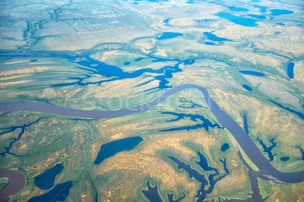 Aerial view on North Yakutia landscapes Stock photo © zastavkin