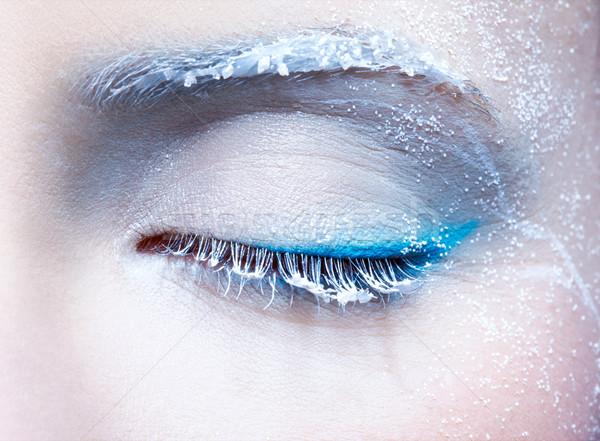 凍結 眼 化粧 クローズアップ 肖像 ストックフォト © zastavkin