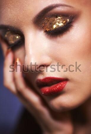 Nina violeta retrato hermosa morena Foto stock © zastavkin