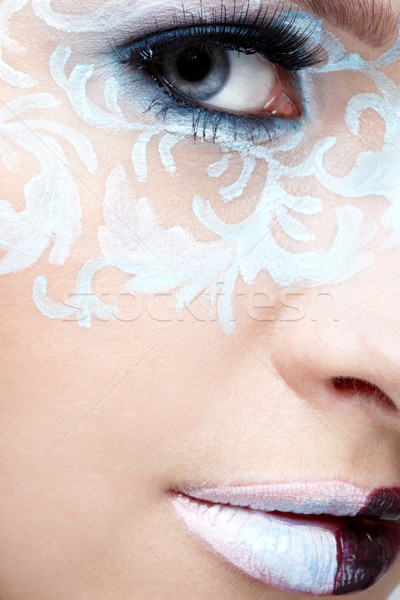 closeup of eyezone bodyart Stock photo © zastavkin