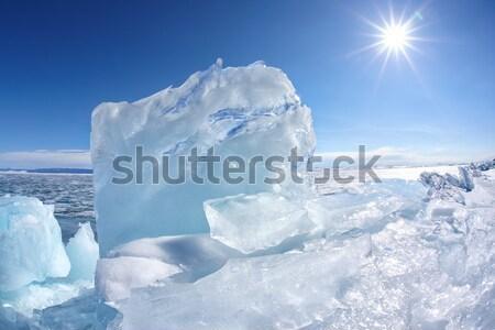 Stonehenge glace lac hiver soleil ciel Photo stock © zastavkin