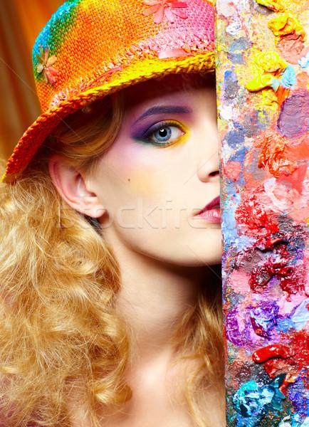 artist woman Stock photo © zastavkin