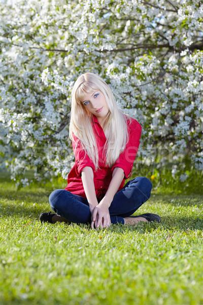 Güzel açık havada açık portre kız Stok fotoğraf © zastavkin