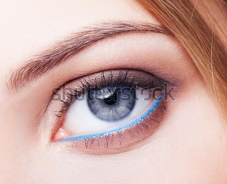 Сток-фото: губ · макияж · портрет · красивой