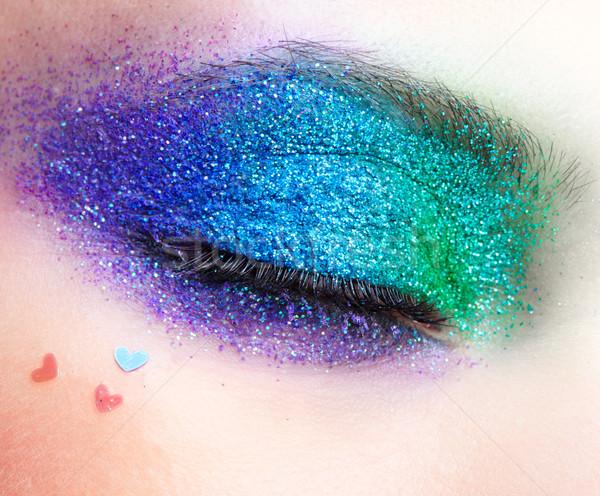 Tatil göz makyajı kadın kadın yüz Stok fotoğraf © zastavkin