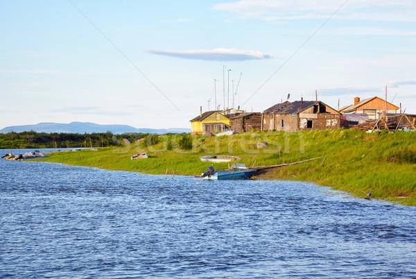 Yakutian settlement Pokhodsk Stock photo © zastavkin