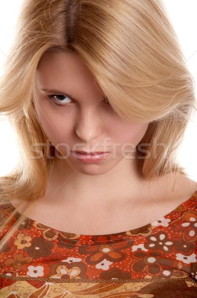 Girl with frown look Stock photo © zastavkin