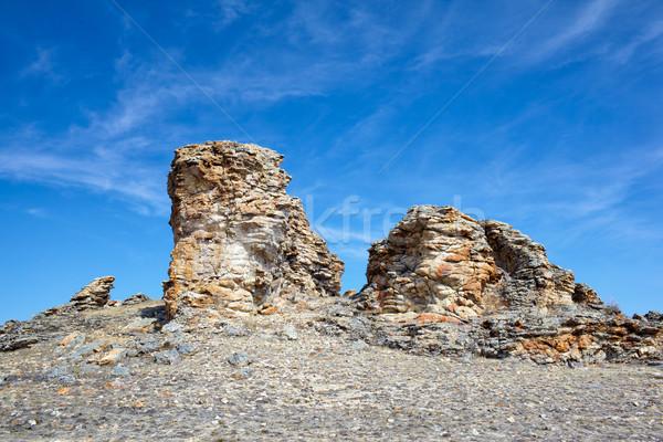 Plush Rocks near Baikal lake Stock photo © zastavkin