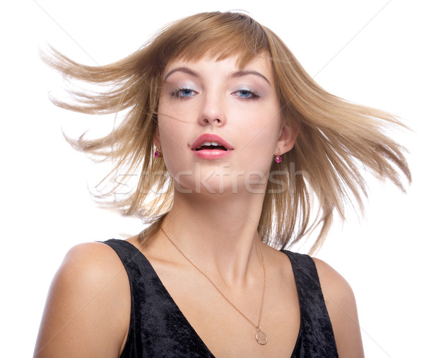 model with fluttering hair Stock photo © zastavkin