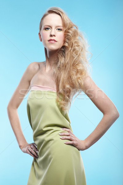 blonde girl Stock photo © zastavkin