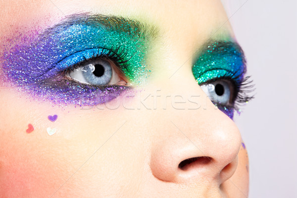 Kadın gözler tatil makyaj Stok fotoğraf © zastavkin
