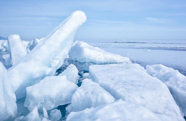 Tél szabadtér kilátás jég kockák fagyott Stock fotó © zastavkin