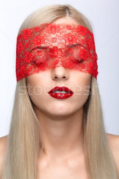 Stockfoto: Vrouw · gezicht · blonde · vrouw · gezicht · vrouw