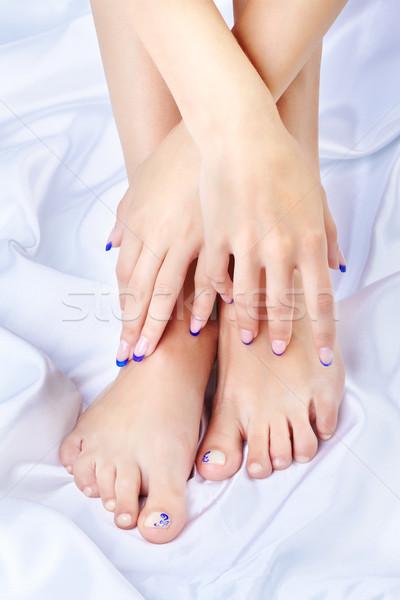 healthy feet and hands Stock photo © zastavkin