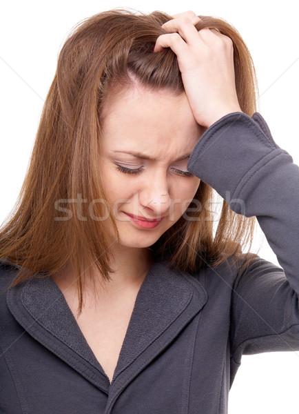 Emotional portrait Stock photo © zastavkin