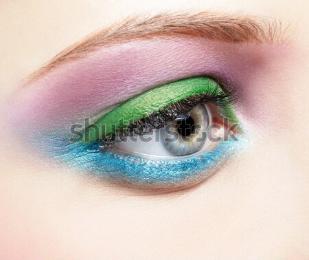 woman's eye zone makeup Stock photo © zastavkin