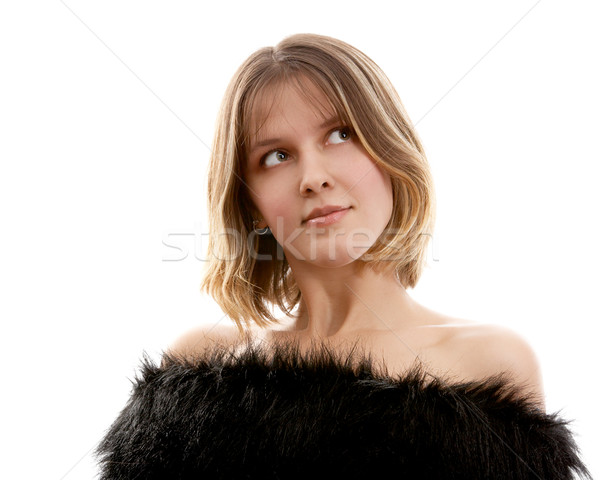 Pretty brunette woman Stock photo © zastavkin