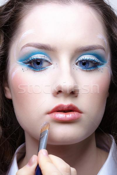 Zdjęcia stock: Twarz · makijaż · piękna · młoda · kobieta · kobieta