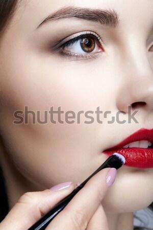 Photo stock: Coup · femme · visage · de · femme