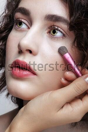 курение девушки портрет молодые лице Сток-фото © zastavkin
