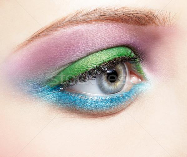 Stock photo: eye shadow make up