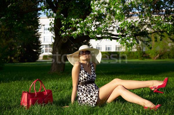 girls in the garden Stock photo © zastavkin