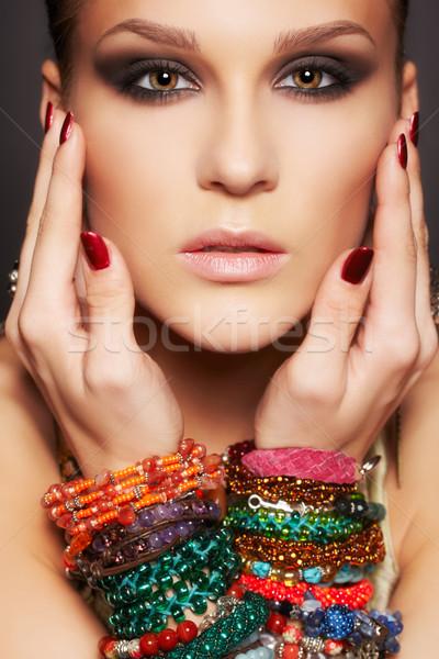 Bella donna ritratto bella giovani bruna donna Foto d'archivio © zastavkin
