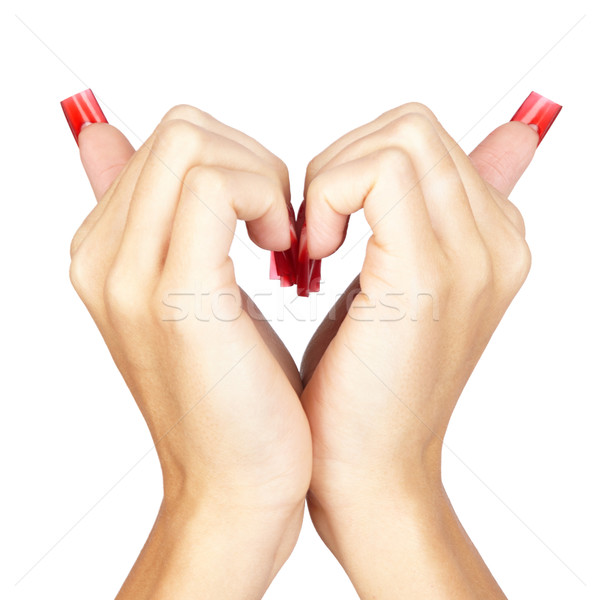 Acrylic nails manicure Stock photo © zastavkin
