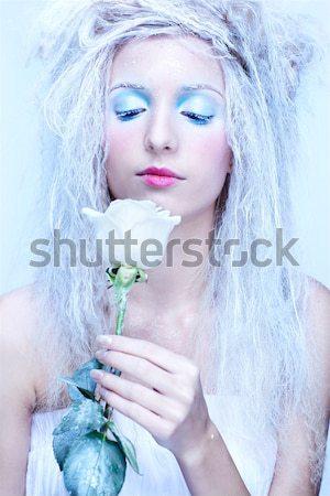 ストックフォト: 凍結 · 妖精 · ファンタジー · 肖像 · 美しい · 若い女性