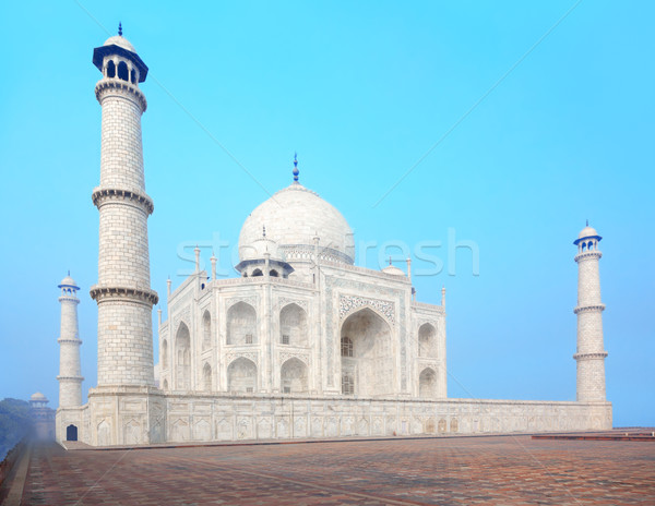 Taj Mahal Inde ciel bleu ciel bâtiment architecture Photo stock © zastavkin