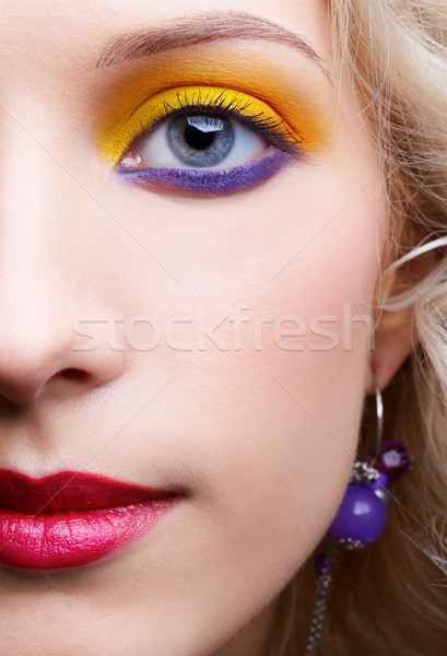 Filles maquillage portrait belle femme Photo stock © zastavkin