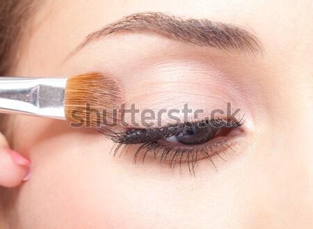 Maquiador belo compensar mulher Foto stock © zastavkin