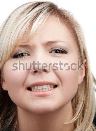 close-up of blonde girl Stock photo © zastavkin