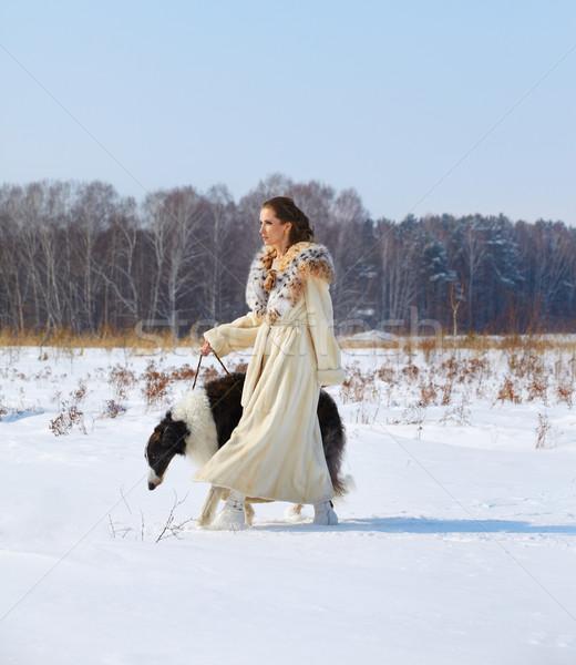 Mujer aire libre aire libre retrato hermosa morena Foto stock © zastavkin