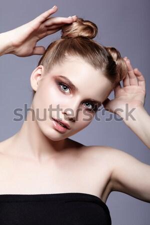 Сток-фото: девушки · Creative · прическа · прическа · портрет · красивой