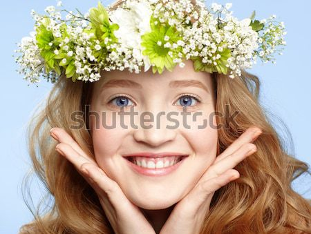 Stock photo: beautiful redhead girl