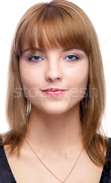 Aantrekkelijk vrouw portret mooie naar Stockfoto © zastavkin