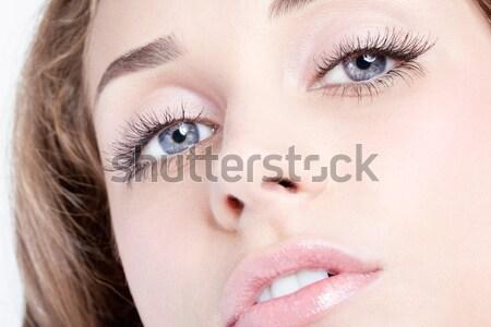 Zdjęcia stock: Kobieta · oczy · shot · dzień · makijaż
