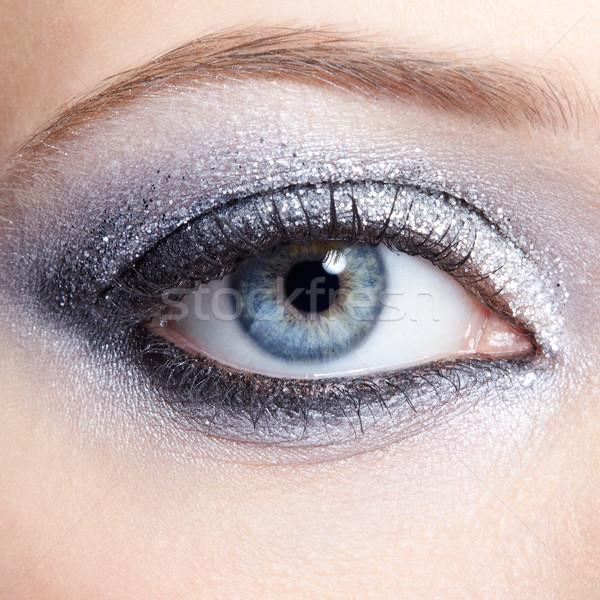 Stockfoto: Vrouw · ogen · make · oog · jonge · vrouw