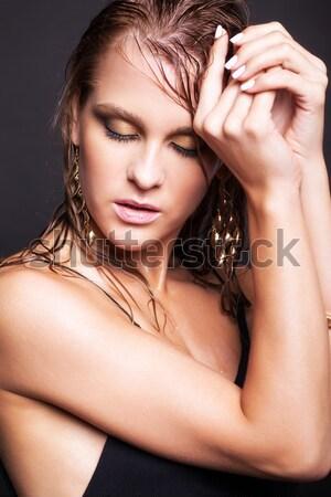 Foto stock: Nina · creativa · peinado · peinado · retrato · hermosa