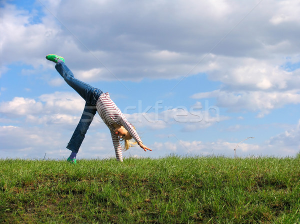 Somersault  Stock photo © zastavkin