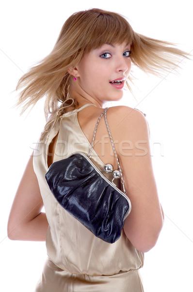 model with little bag Stock photo © zastavkin